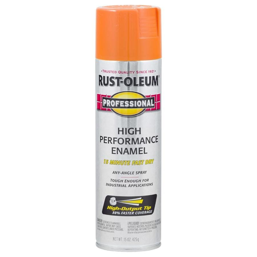 Rust-Oleum Professional Safety Orange Rust Resistant Enamel Spray Paint (Actual Net Contents: 15-oz)