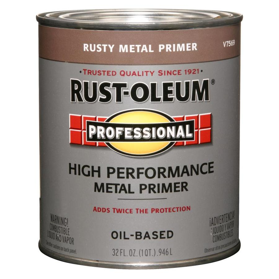 Shop Rust Oleum Professional Red Flat Oil Based Enamel Interior Exterior Paint Actual Net