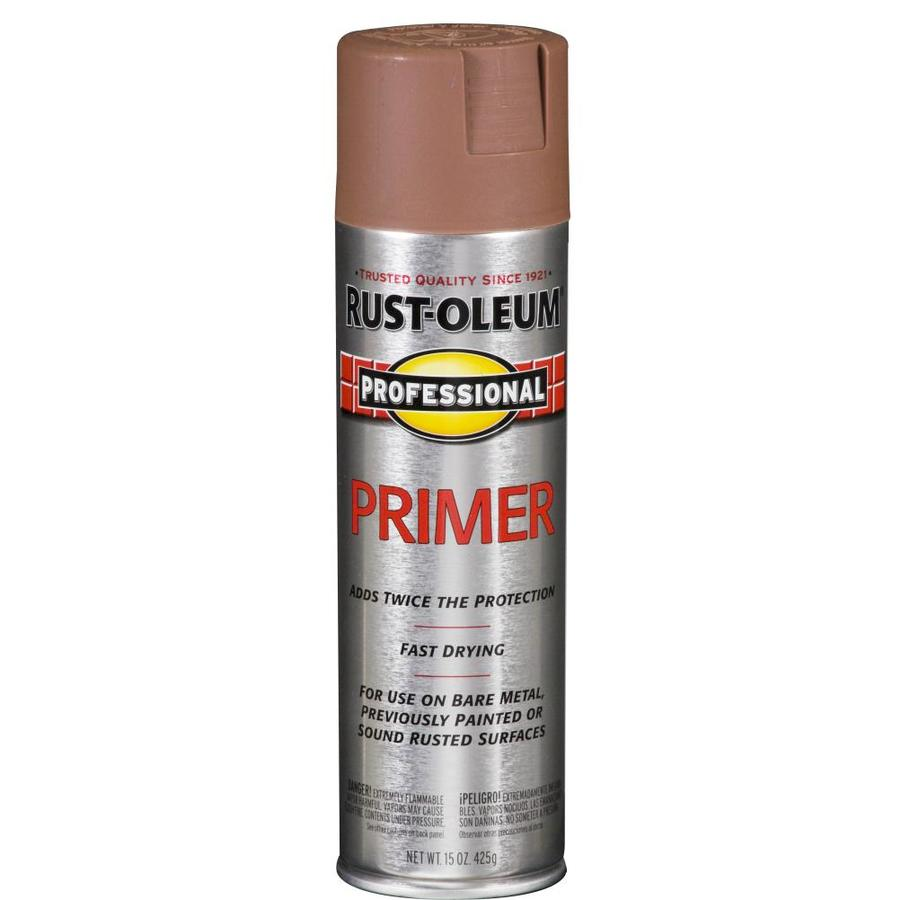 Shop Rust Oleum Professional Red Primer Spray Paint Actual Net Contents 15 Oz At