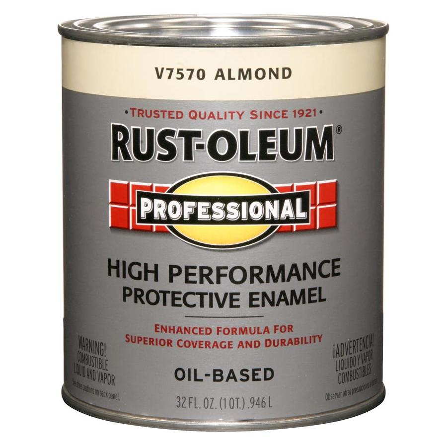 Rust-Oleum Professional Almond Gloss Enamel Interior/Exterior Paint (Actual Net Contents: 32-fl oz)