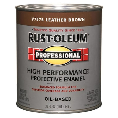 Professional Leather Brown Gloss Oil Based Enamel Interior Exterior Paint Actual Net Contents 32 Fl Oz