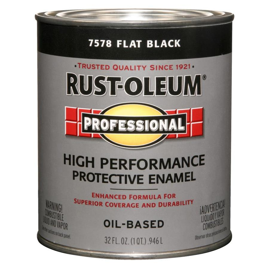Rust-Oleum Professional Black/Flat Enamel Interior/Exterior Paint (Actual Net Contents: 32-fl oz)