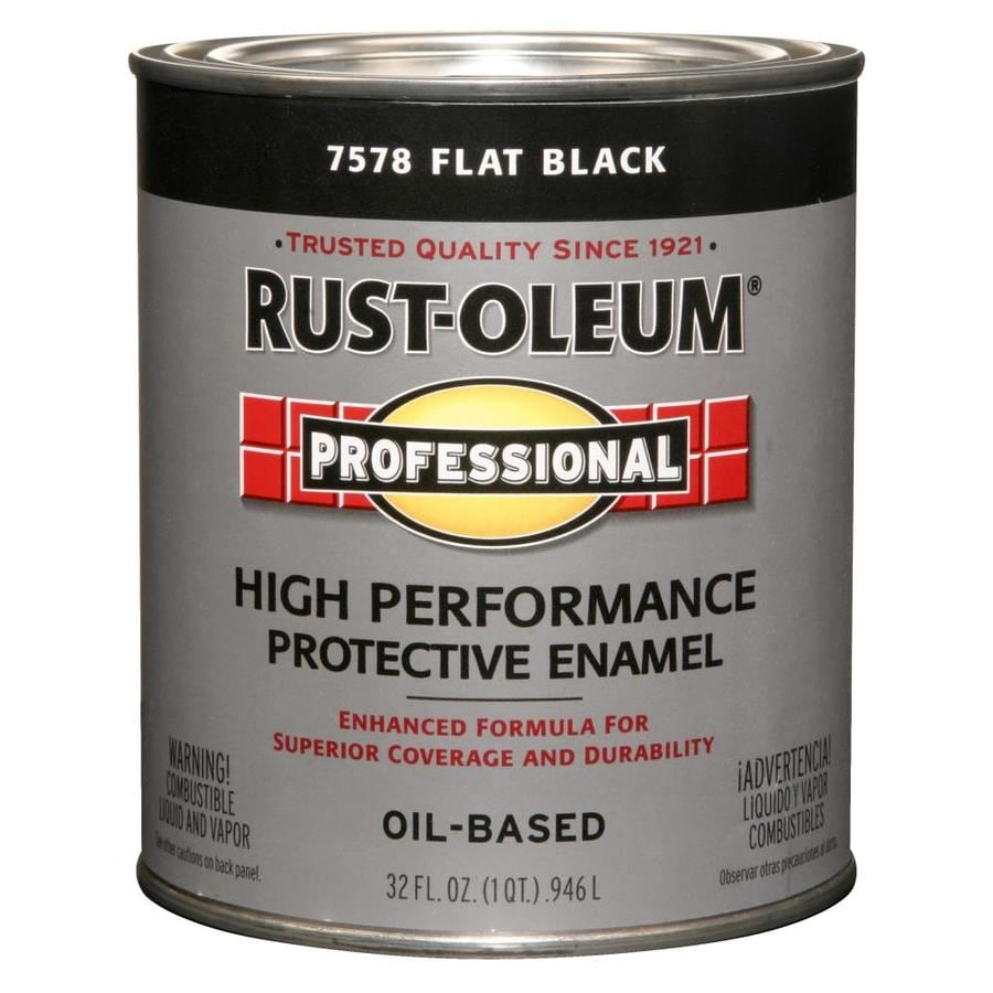 Rust-Oleum Professional Black/Flat Flat Oil-based Enamel Interior/Exterior Paint (Actual Net Contents: 32-fl oz)