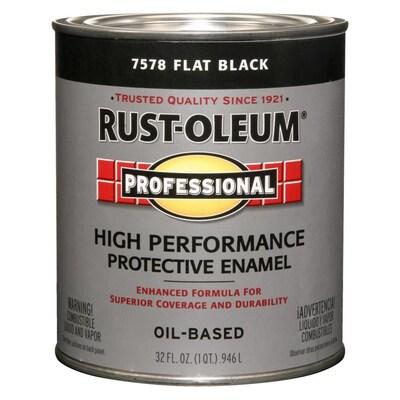 Rust-Oleum Professional Black Flat Oil-based Enamel Interior