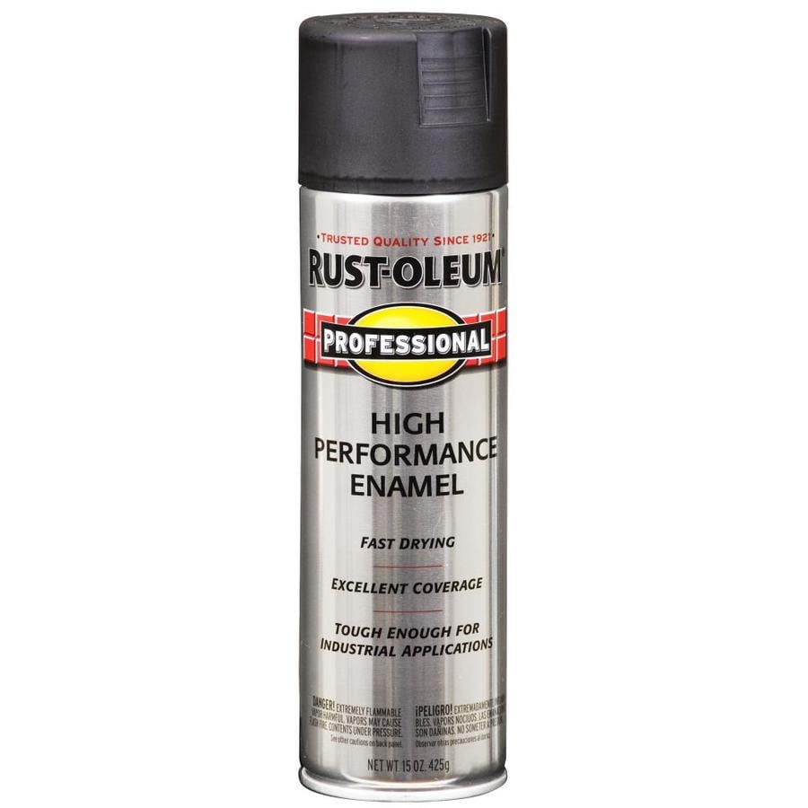 Rust Oleum Professional Flat Black Spray Paint Actual Net Contents 15 Oz