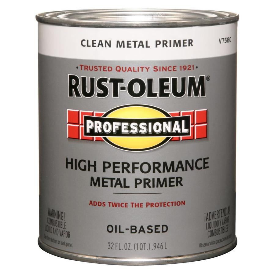 Rust Oleum Professional White/Flat Oil Based Enamel Interior/Exterior Paint  (