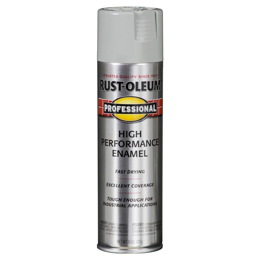 Shop Rust Oleum Professional Light Machine Gray Rust Resistant Enamel Spray Paint Actual Net