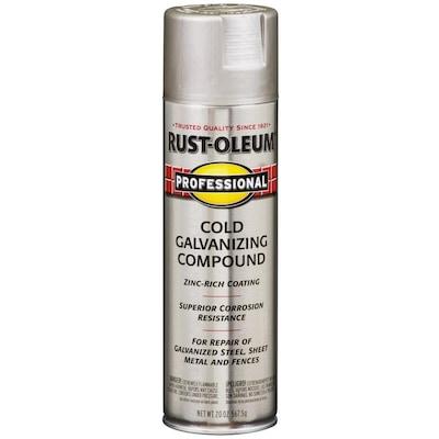 Rust-Oleum Professional Flat Silver Spray Paint (Actual Net