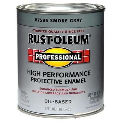 Professional Smoke Gray Gloss Oil Based Enamel Interior Exterior Paint Actual Net Contents 32 Fl Oz