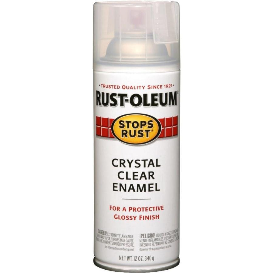 Rust-Oleum Crystal Clear Enamel Spray Paint (Actual Net Contents: 12-oz)