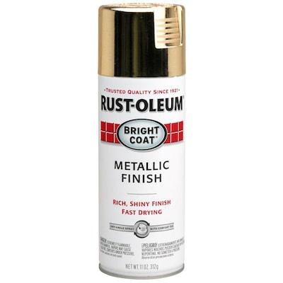 Stops Rust Gloss Gold Metallic Spray Paint Actual Net Contents 11 Oz