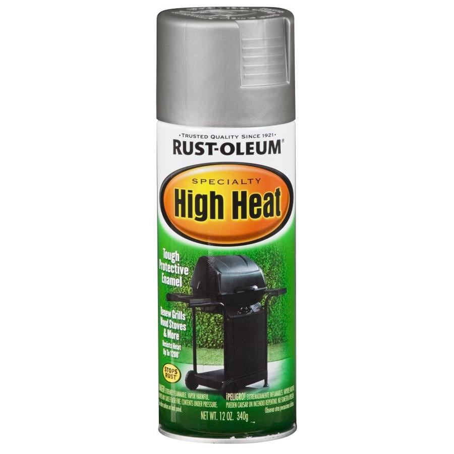 Rust-Oleum Specialty High Heat High Heat Silver Rust Resistant Enamel Spray Paint (Actual Net Contents: 12-oz)