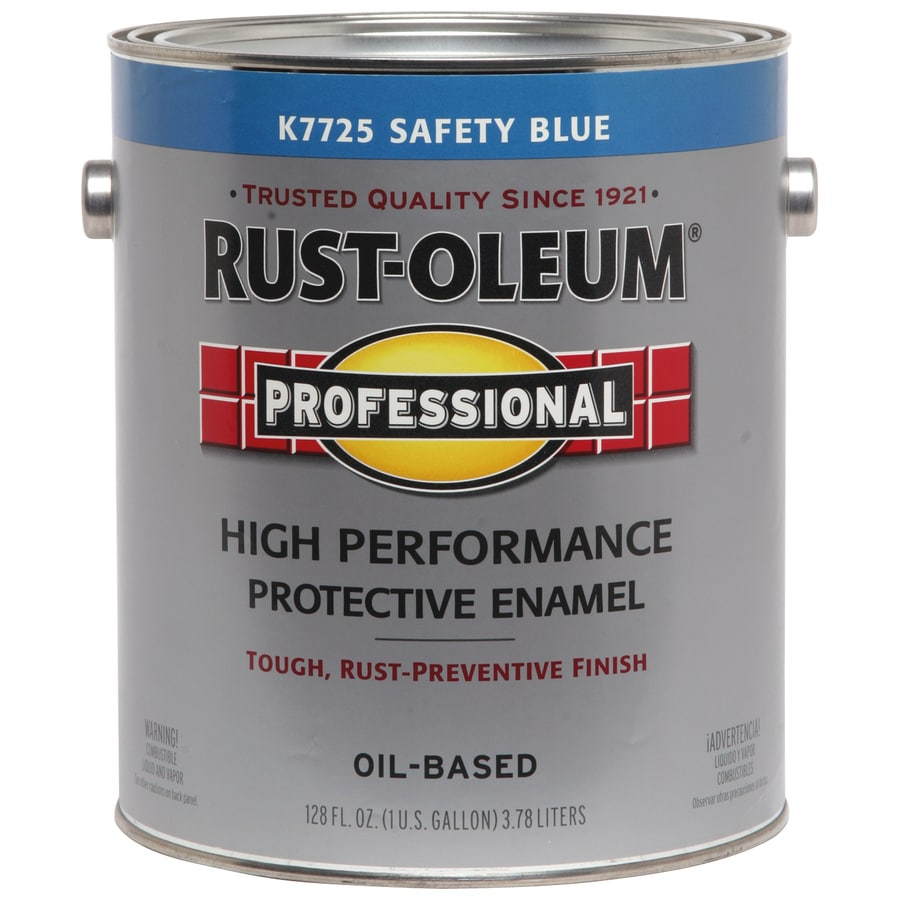 Shop Rust Oleum Professional Safety Blue Gloss Oil Based Enamel Interior Exterior Paint Actual