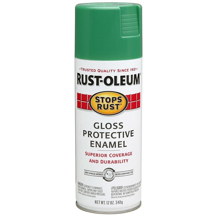 Rust-Oleum Stops Rust Grass Green Rust Resistant Enamel Spray Paint (Actual Net Contents: 12-oz)