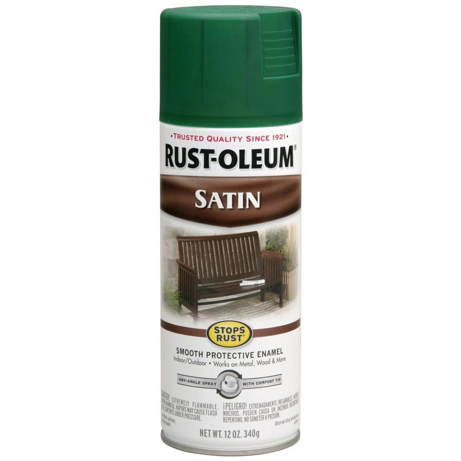 Rust-Oleum Stops Rust Hunter Green Rust Resistant Enamel Spray Paint (Actual Net Contents: 12-oz)