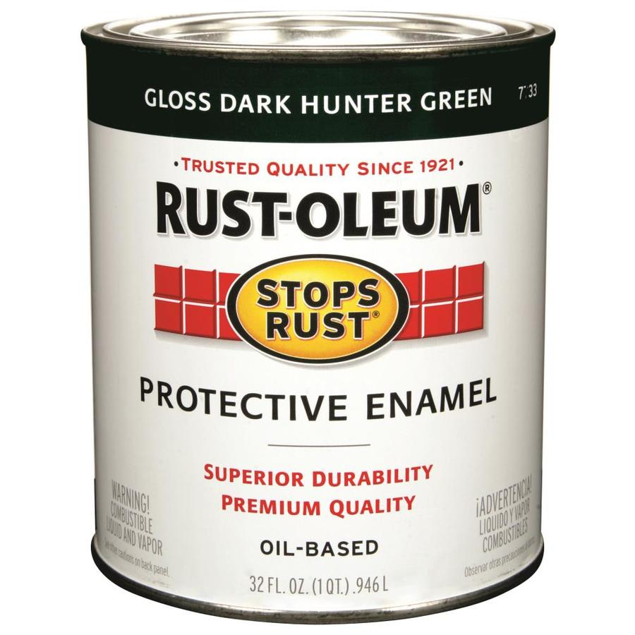 Rust-Oleum Stops Rust Dark Hunter Green Gloss Oil-based Enamel Interior/Exterior Paint (Actual Net Contents: 32-fl oz)