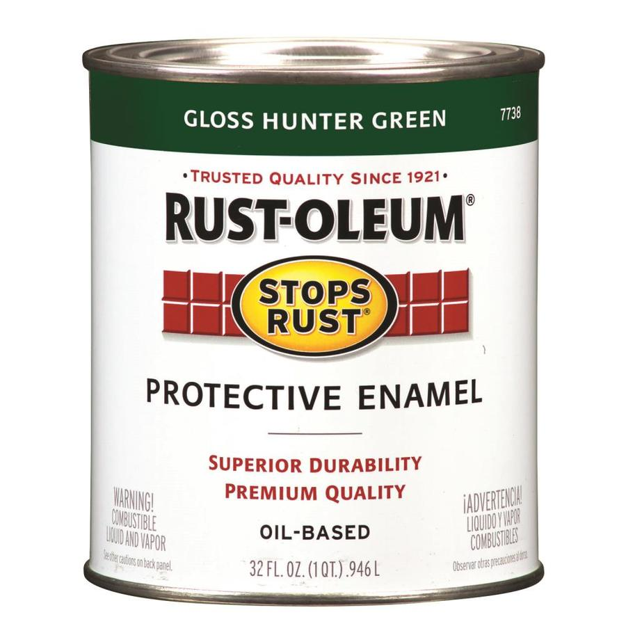 Rust-Oleum Stops Rust Hunter Green Gloss Oil-Based Enamel Interior/Exterior Paint (Actual Net Contents: 32-fl oz)