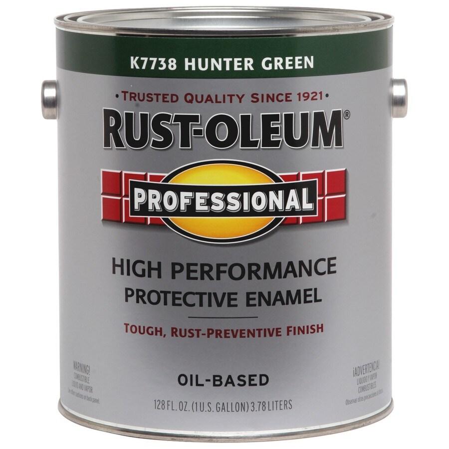 Rust-Oleum Professional Hunter Green/Gloss Enamel Interior/Exterior Paint (Actual Net Contents: 128-fl oz)