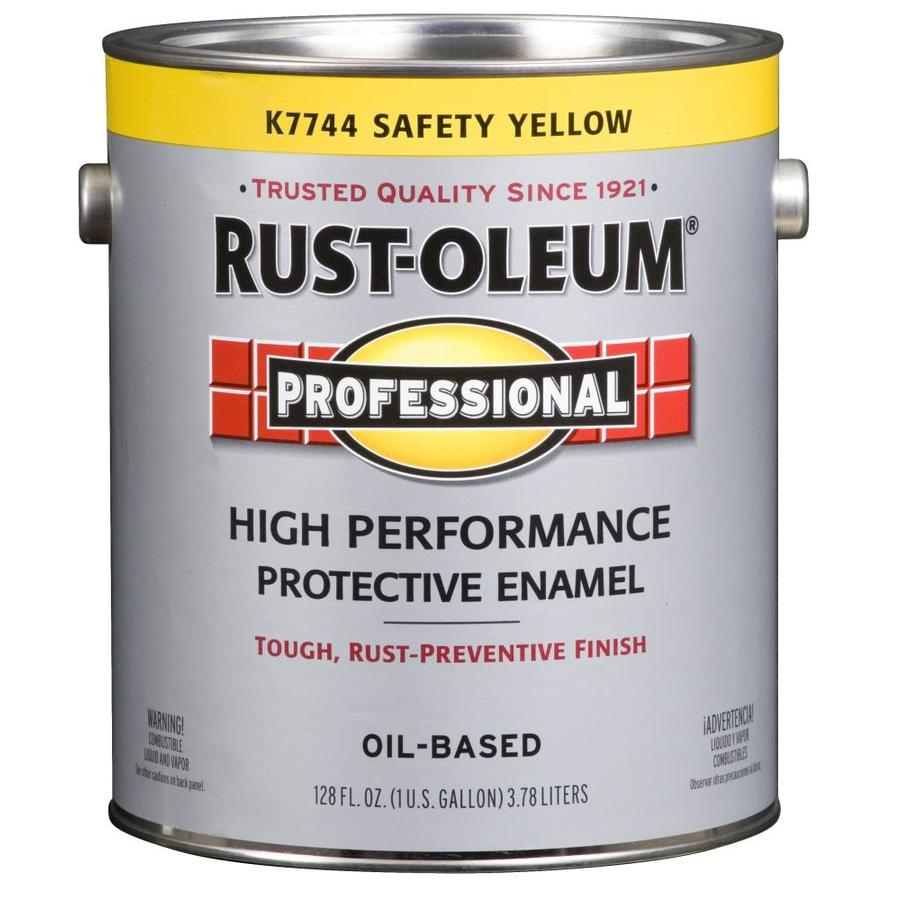 Rust-Oleum Professional Safety Yellow/Gloss Gloss Oil-based Enamel Interior/Exterior Paint (Actual Net Contents: 128-fl oz)