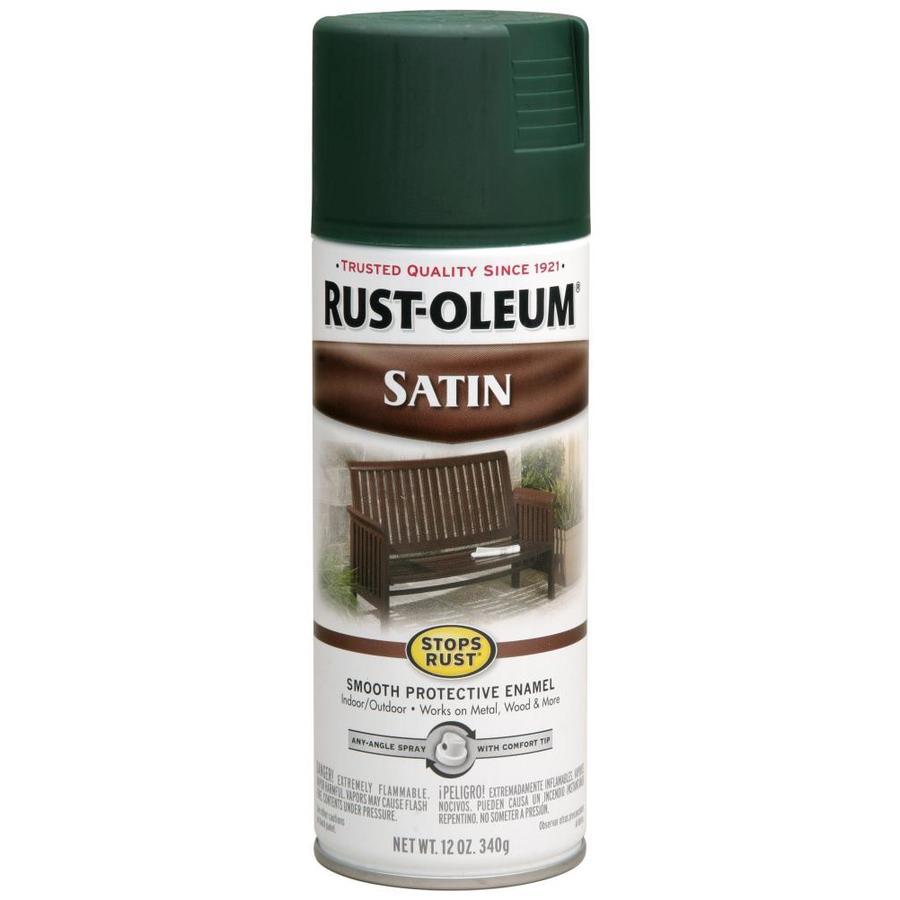 Rust Oleum Stops Dark Hunter Green Spray Paint Actual Net Contents 12 Oz