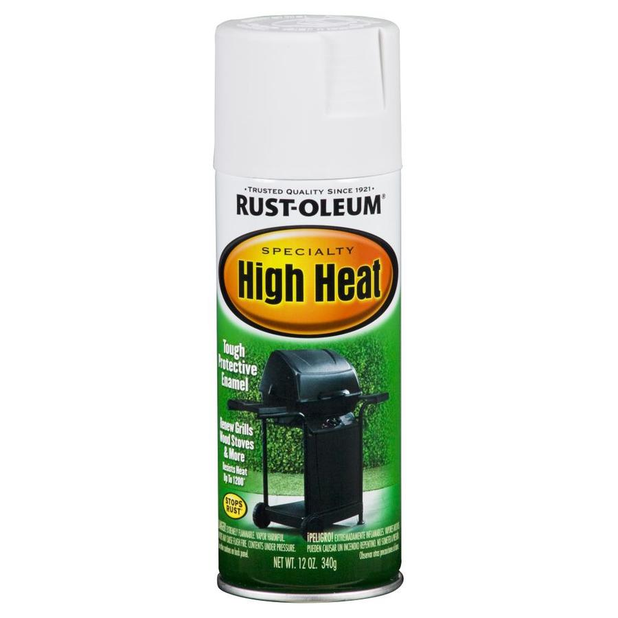 Rust-Oleum Specialty High Heat High Heat White Rust Resistant Spray Paint (Actual Net Contents: 12-oz)