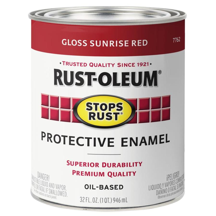 Rust-Oleum Stops Rust Sunrise Red Gloss Oil-Based Enamel Interior/Exterior Paint (Actual Net Contents: 32-fl oz)