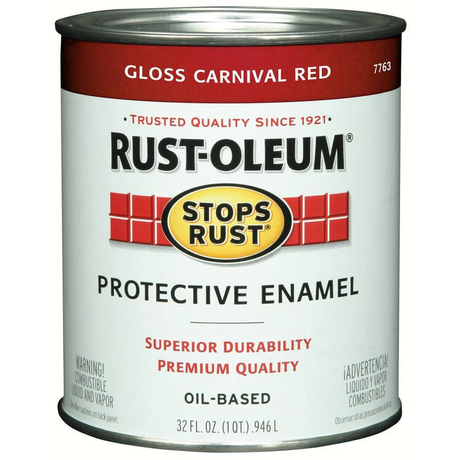 Rust-Oleum Stops Rust Carnival Red Gloss Oil-Based Enamel Interior/Exterior Paint (Actual Net Contents: 32-fl oz)