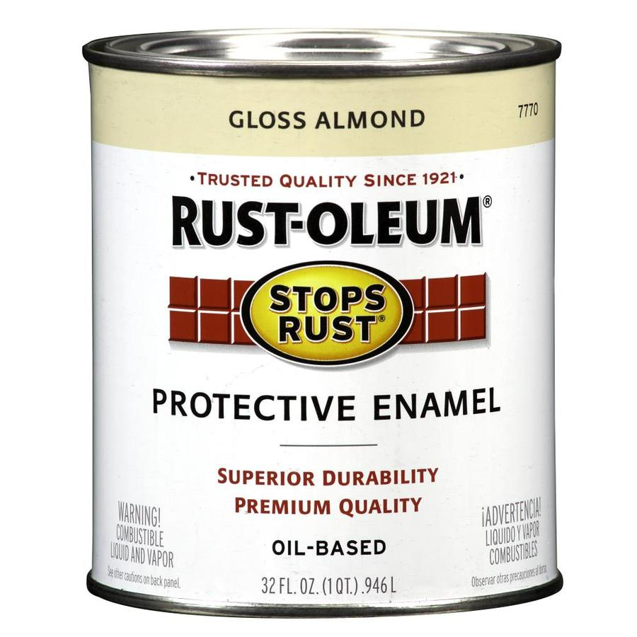 Shop Rust Oleum Stops Rust Almond Gloss Oil Based Enamel Interior Exterior Paint Actual Net
