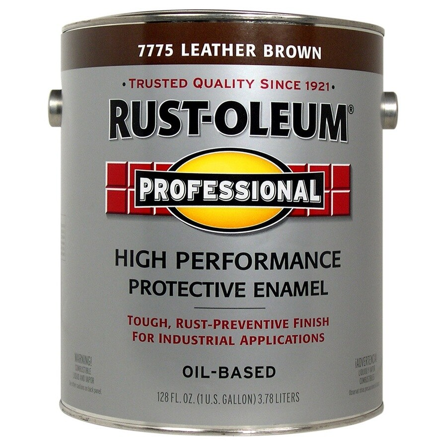 Rust-Oleum 1-Gallon Interior/Exterior Gloss Gloss Leather Brown Oil-Base Paint