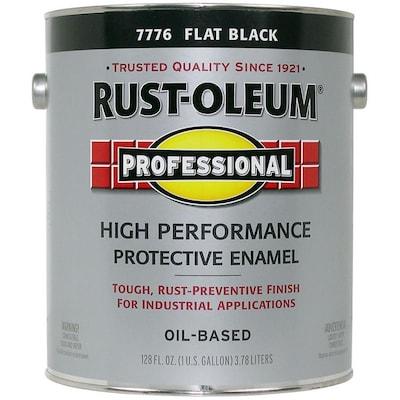 Professional Black Flat Oil Based Enamel Interior Exterior Paint Actual Net Contents 128 Fl Oz