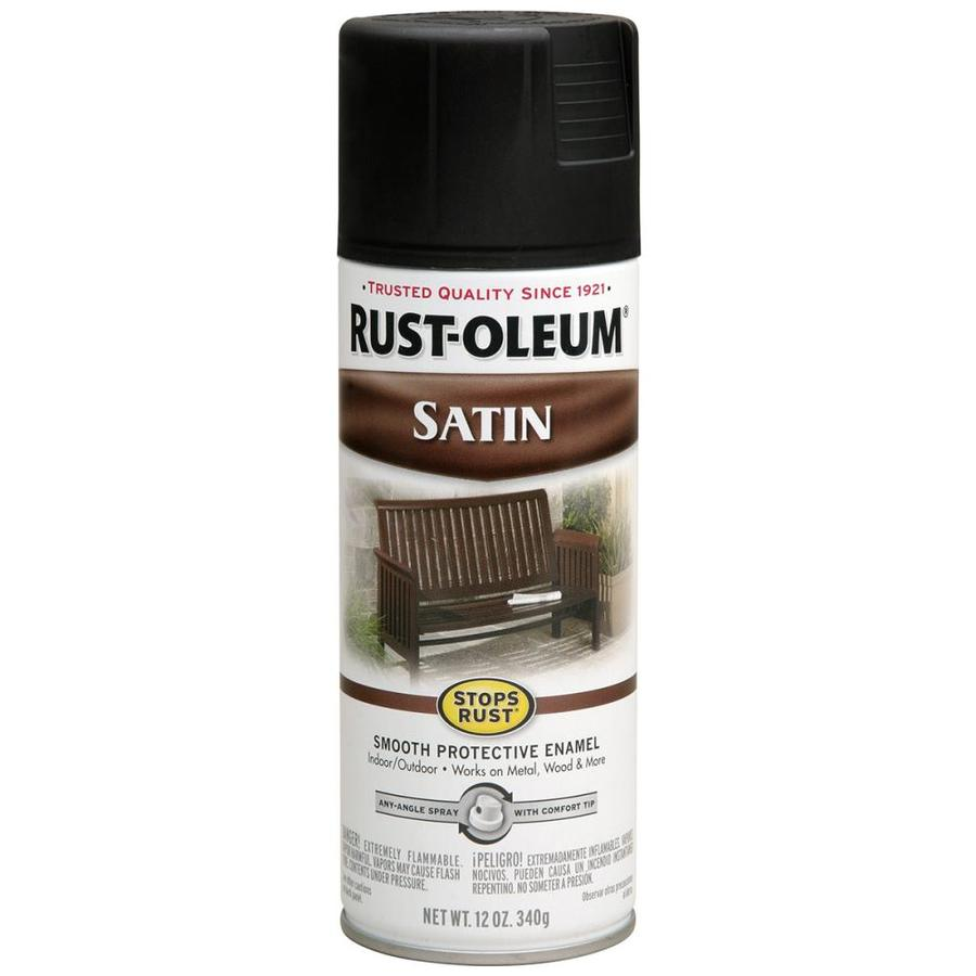 Rust-Oleum Stops Rust Black Rust Resistant Enamel Spray Paint (Actual Net Contents: 12-oz)