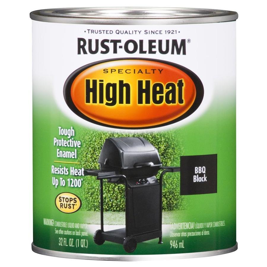 Rust Oleum Specialty Flat High Heat Black Flat Enamel Interior Exterior Paint 1 Quart In The Exterior Paint Department At Lowes Com