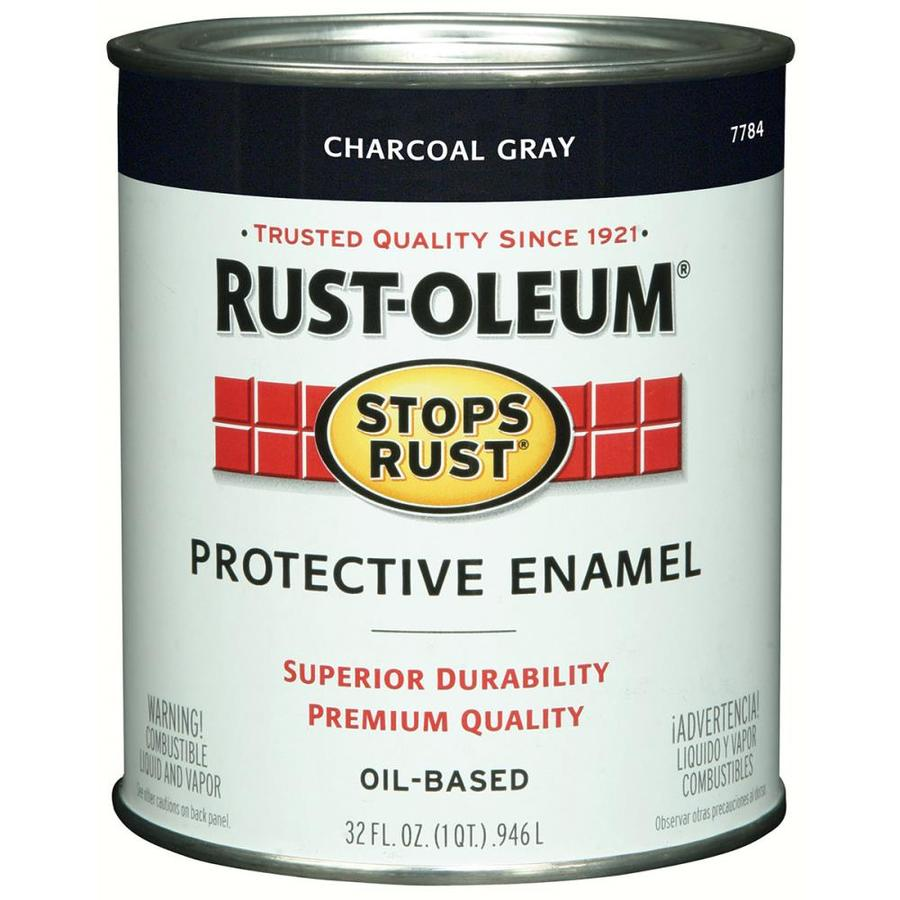 Rust-Oleum Stops Rust Charcoal Gray Gloss Oil-Based Enamel Interior/Exterior Paint (Actual Net Contents: 32-fl oz)