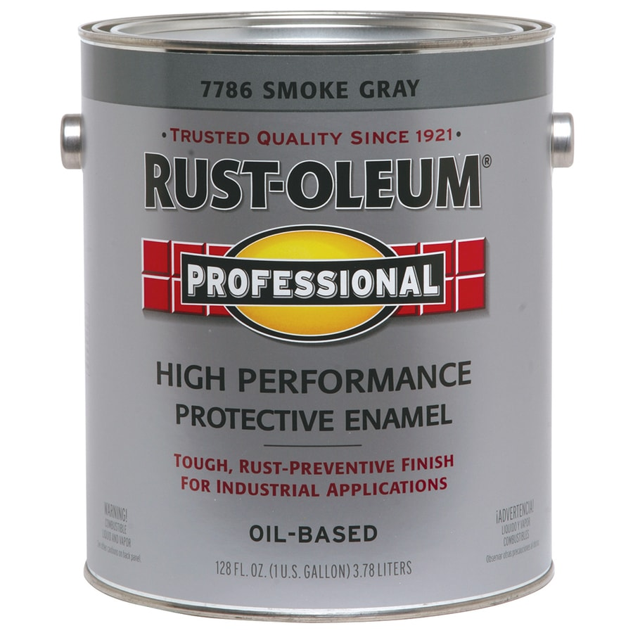 shop rust oleum professional gray gloss enamel interior exterior paint