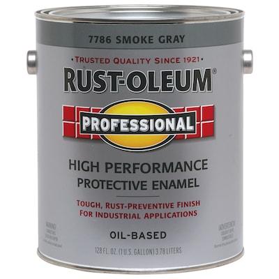 Professional Gray Gloss Oil Based Enamel Interior Exterior Paint Actual Net Contents 128 Fl Oz