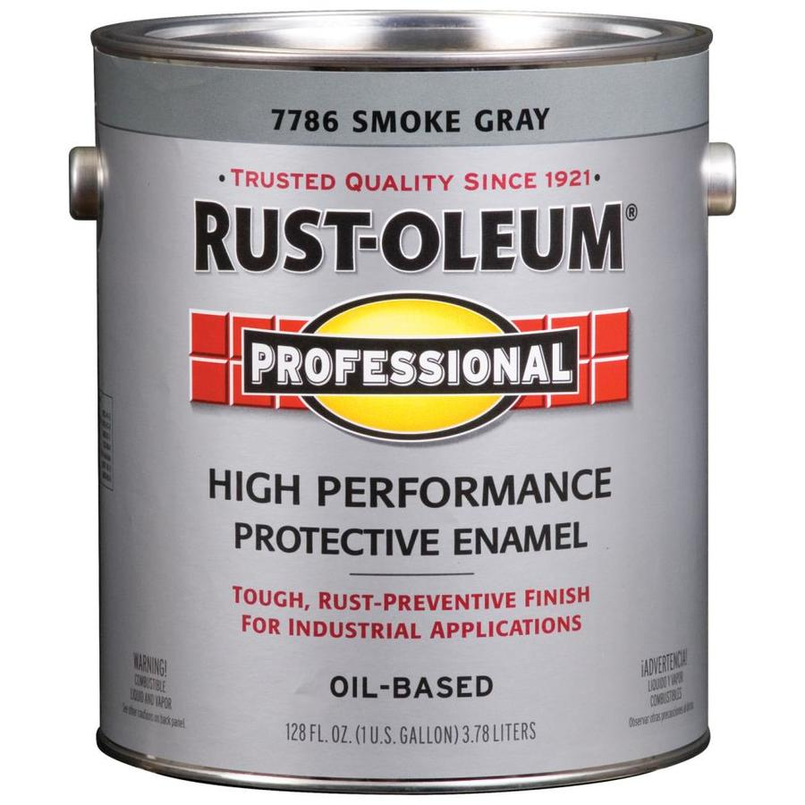 Shop Rust Oleum Professional Gray Gloss Oil Based Enamel Interior Exterior Paint Actual Net