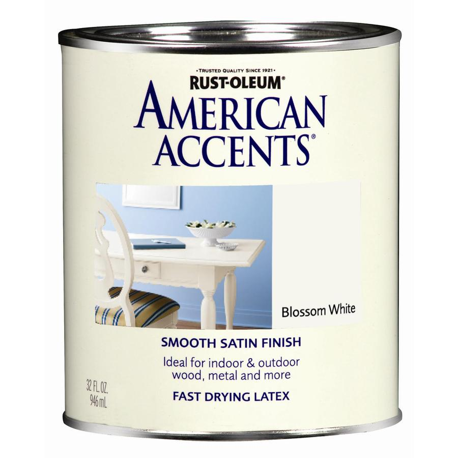 Rust-Oleum American Accents 1-Quart Exterior Satin Blossom White Latex-Base Paint