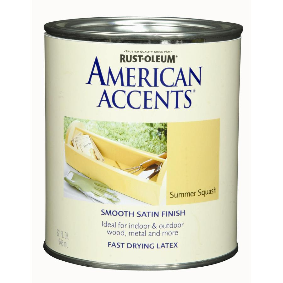 Rust-Oleum American Accents Quart Interior/Exterior Satin Summer Squash Paint