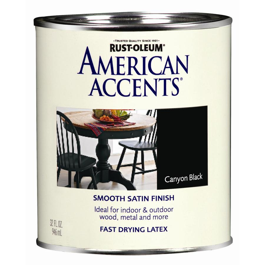 Rust-Oleum American Accents 1-Quart Exterior Satin Canyon Black Latex-Base Paint