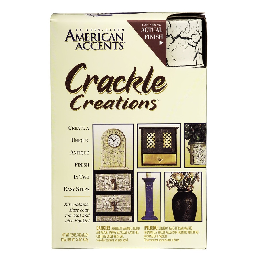 Rust-Oleum American Accents Decorative Finishes Ivory Crackle Fade Resistant Enamel Spray Paint (Actual Net Contents: 24 Oz.)