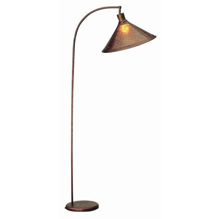 Axis 68-in 3-Way Switch Rust Torchiere Indoor Floor Lamp with Glass Shade