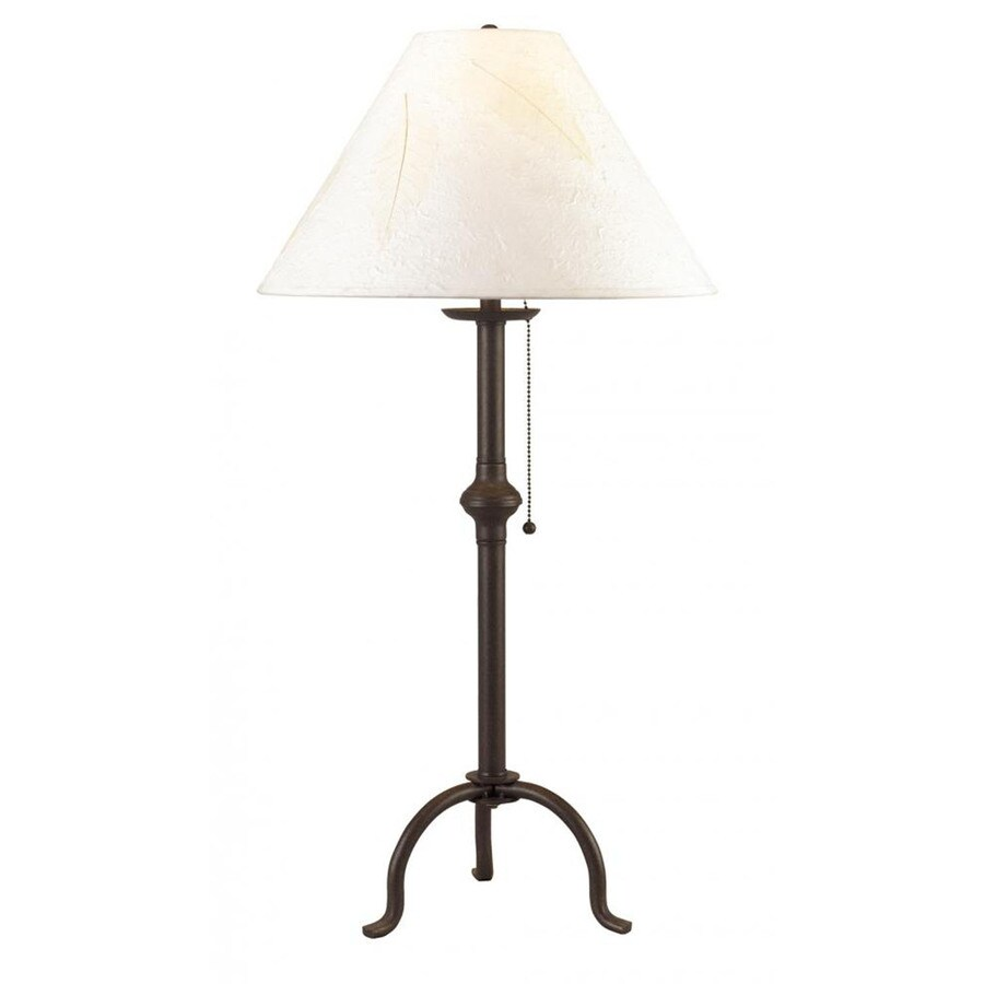 Axis 32-in 3-Way Dark Bronze Indoor Table Lamp with Fabric Shade