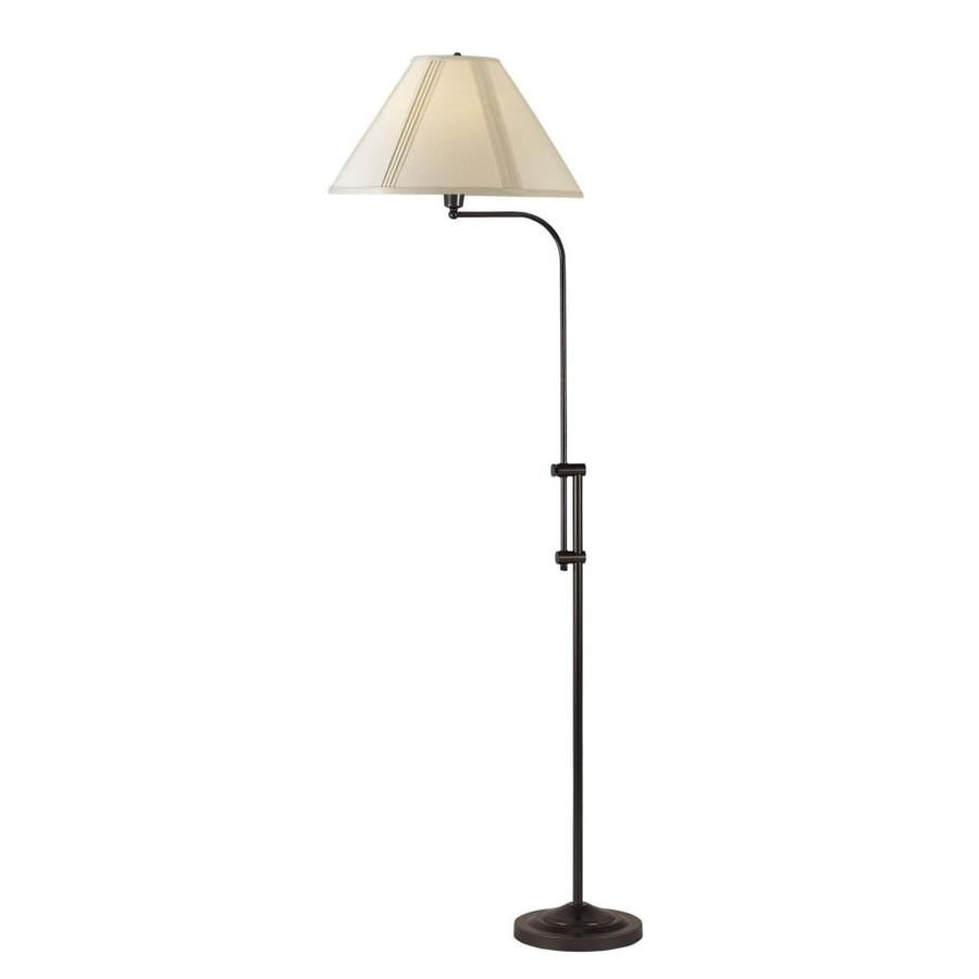 Axis 67-in Dark Bronze 3-Way Torchiere Floor Lamp with Fabric Shade