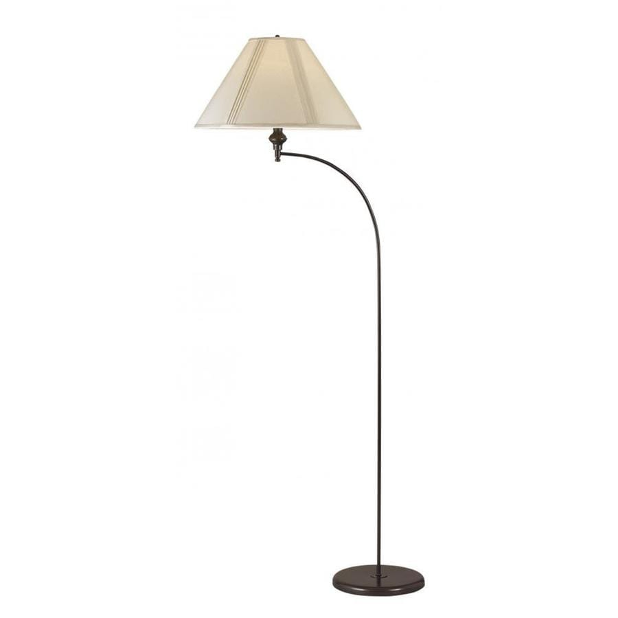 Axis 66-in Dark Bronze 3-Way Torchiere Floor Lamp with Fabric Shade