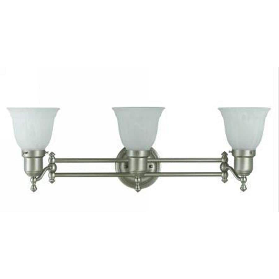 Axis 3-Light 8.5-in Brushed Steel Vanity Light