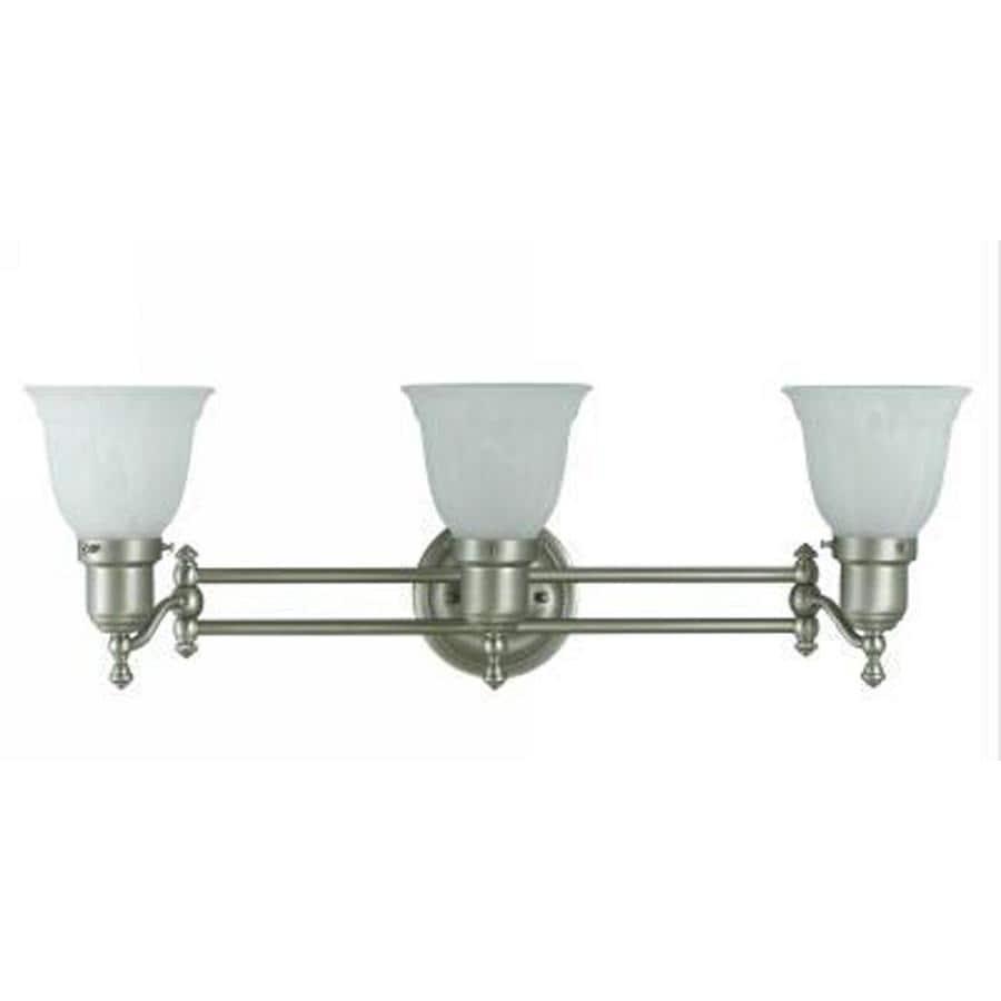 Axis 3-Light 8.5-in Brushed steel Vanity Light