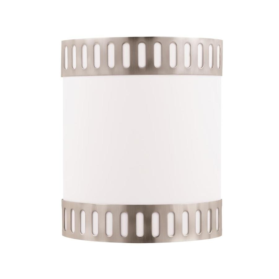 Axis 12.5-in W 2-Light Brushed Steel Corner Wall Sconce