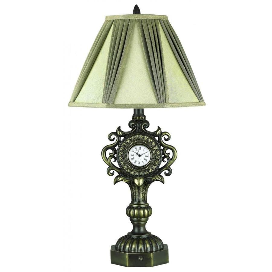 in brindle electrical outlet 3 way switch table lamp with fabric shade. Black Bedroom Furniture Sets. Home Design Ideas
