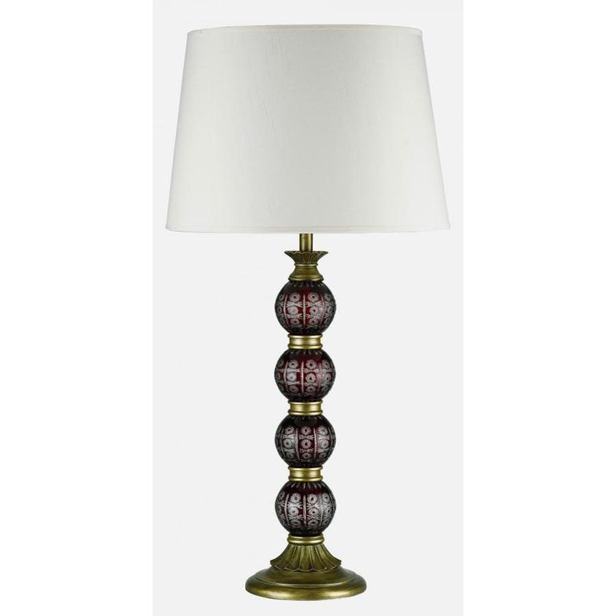 Axis 1 Light 24 in. Cocoa Incandescent Table Lamp with Fabric Shade