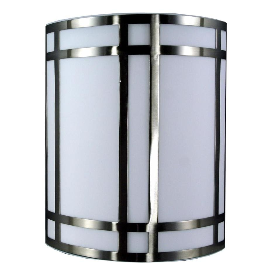 Axis 16-in W 1-Light Brushed Steel Corner Wall Sconce